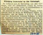19350423 Wijziging tramroutes Coolsingel