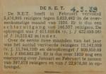19390304 resultaten RET februari, verzameling Hans Kaper