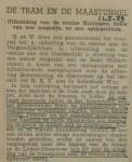 19390511 De tram en de Maastunnel, verzameling Hans Kaper