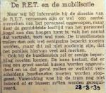 19390828 De RET en de mobilisatie