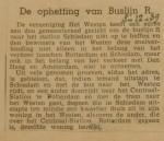 19391203 opheffing autobuslijn R, verzameling Hans Kaper