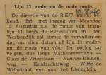 19400810 lijn 11 weer op oude route, verzameling Hans Kaper