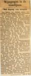 19411125 Wijzigingen in de tramlijnen