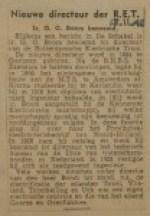 19421113-nieuwe-directeur-RET, verzameling Hans Kaper