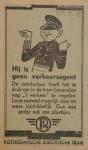 19430317 advertentie hij is geen verkeeragent, verzameling Hans Kaper
