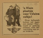 19431101-Advertentie-Klein-plaatsje-voor-t-kleine-volkje, verzameling Hans Kaper