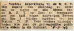 19440818 Verdere beperking bij de RET