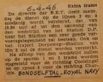19460406-Extra-trams-wedstrijd-Bondselftal-Royal-Navy, Verzameling Hans Kaper