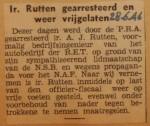 19460628-ir.-Rutten-weer-vrijgelaten, Verzameling Hans Kaper