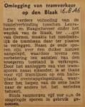 19460816-Omlegging-tramverkeer-Blaak, Verzameling Hans Kaper