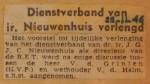 19461122-Dienstverband-Nieuwenhuis-verlengd, Verzameling Hans Kaper