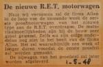 19480501-Nieuwe-RET-motorwagen, Verzameling Hans Kaper