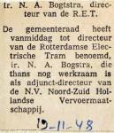 19481119 Bogtstra benoemd