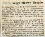 19481231 RET krijgt nieuwe directie