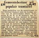 19491201 Gemeente wil populair tramtarief