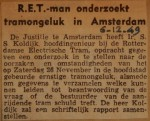 19491206-RET-onderzoekt-tramongeluk-Amsterdam, Verzameling Hans Kaper