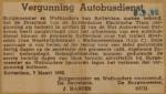 19520308-Vergunning-busvervoer-Overschie., Verzameling Hans Kaper