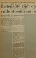 19551123-Bietenauto-rijdt-stoomtram-in, Verzameling Hans Kaper