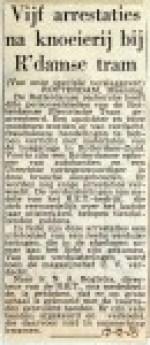 19551219 Vijf arrestaties na knoeierij bij RET
