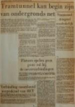19551228-Tramtunnel-kan-begin-ondergronds-net-zijn, Verzameling Hans Kaper