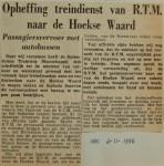 19561102-Opheffing-treindienst-RTM-Hoeksewaard