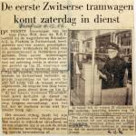 19561204 Eerste Zwitserse tram zaterdag in dienst