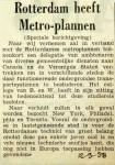 19580912 Rotterdam heeft metro-plannen