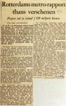 19590214 Rotterdams metro-rapport verschenen