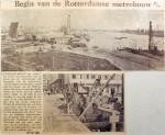 19601018 Begin van de Rotterdamse metrobouw