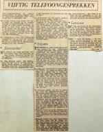 19601123 Vijftig telefoongesprekken