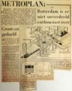 19601216 Rotterdam niet onverdeeld enthousiast over metroplan