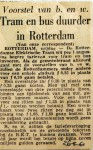 19610526 Tram en bus duurder in Rotterdam