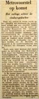 19620111 Metrovoorstel op komst