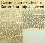 19620606 Eerste metrostation bijna gereed