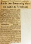 19621109 Studie over herziening tram en busnet Rotterdam