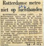 19630628 Metro niet op luchtbanden