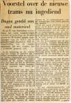 19630931 Voorstel nieuwe trams nu ingediend