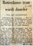 19640106 Rotterdamse tram wordt duurder