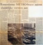 19650201 Rotterdamse metrobouw neemt duidelijke vormen aan