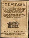 1798 Dienstregeling Veerdiensten, trekschuiten en wagens (Tydwyzer)