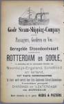 1887 Geregelde stoomvaart Rotterdam-Goole (UK) (Rotterdams adresboek)