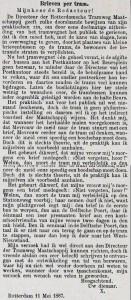 18870514 Brieven per tram. (RN)