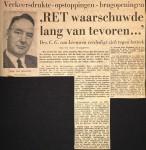 19660104 RET waarschuwde van te voren. (HVV)