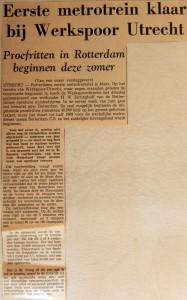 19660615 Eerste metrotrein klaar bij Werkspoor Utrecht