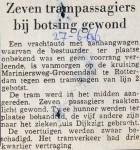 19660627 Zeven gewonden bij botsing.