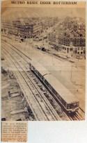 19670214 Metro rijdt door Rotterdam