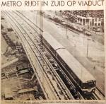19670707 Metro rijdt in Zuid op viaduct
