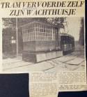 19670803 Tram vervoerde wachthuisje.