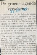 19671028 De groene agenda verschenen.