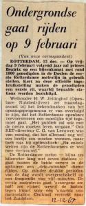 19671212 Ondergrondse gaat rijden op 9 februari